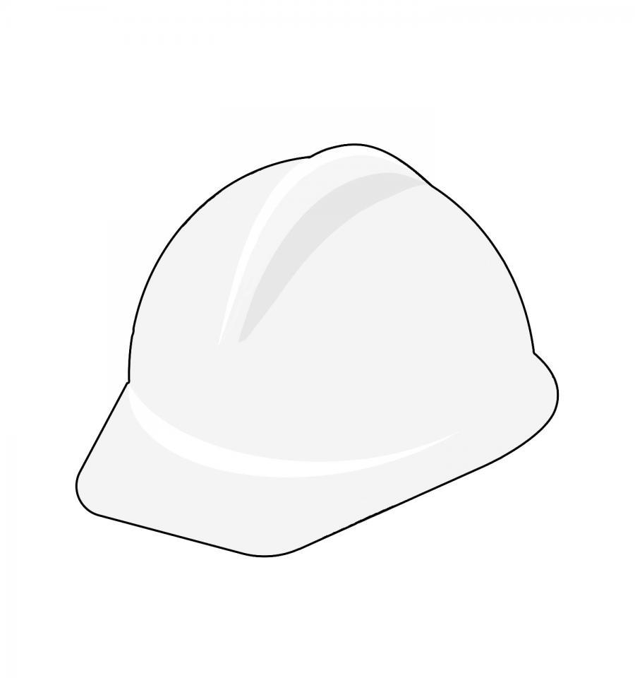 Sicherheits- und Gesundheitsschutzkoordination - weißer Helm